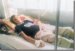 Le jeune Alban Sallahaj, 16 ans, espère pouvoir venir bientôt se faire greffer du rein en Suisse. Pour l'instant, il est hospitalisé au Kosovo. LDD