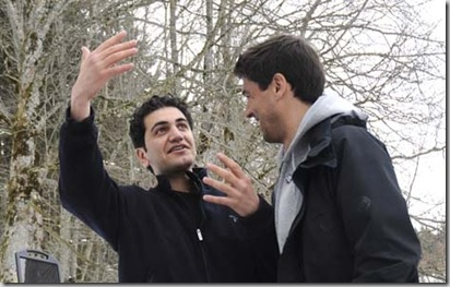 Fahad K. en compagnie de Fernand Melgar (photo Joana Abriel)