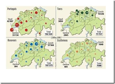 localisation communautés étrangères suisse