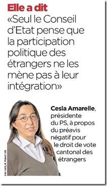 Cesla Amarelle, présidente du PS. Photo Patrick Martin dans 24 Heures