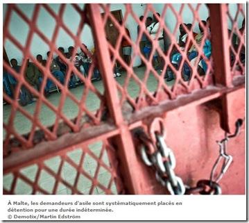 malte réfugiés prison