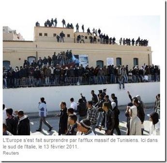afflux lampedusa tunisiens
