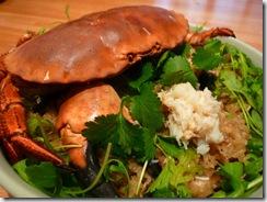 Riz Gluant de la Noblesse au crabe rouge
