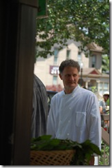 Chef Brandon Johns at the market, summer 2008