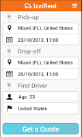 Screenshot of IzziRent Car Rental