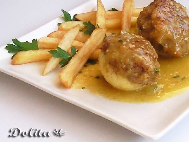 Las recetas de mis amigas huevos en salsa rellenos de carne - Salsa para relleno de carne ...