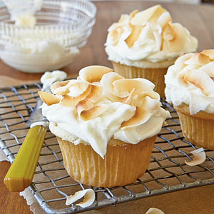 Coconut Cupcakes with Coconut-Cream Cheese Frosting Recipe | Yummly