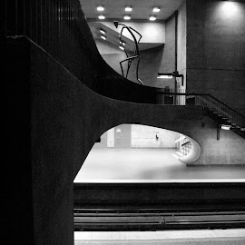 Monk subway station, Montreal by Bruno Gallant - Buildings & Architecture Other Interior ( interior, montreal, quebec, subway, b&w )