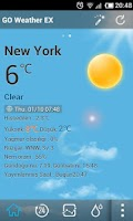 Screenshot of Turkish Language GOWeatherEX