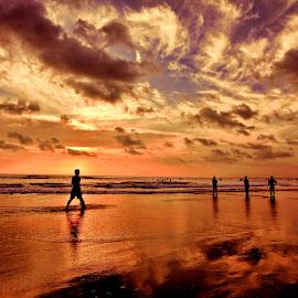 Kuta - Bali 2 by Rientje Maya - Landscapes Sunsets & Sunrises