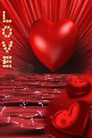 Screenshot of Red Heart On Red Sea Live Wall