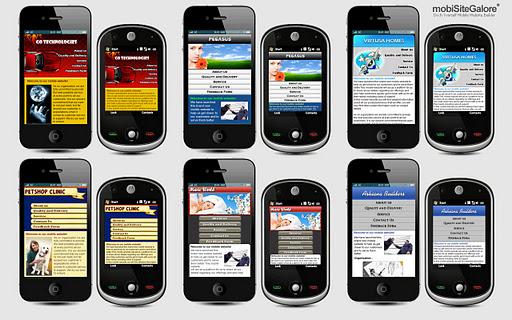 mobiSiteGalore mobile website