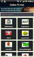 Screenshot of 3G Indian Live TV