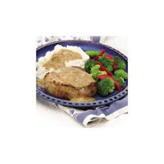 Pork Chops and Mustard Onion Gravy