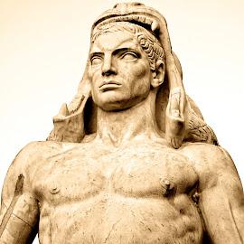 Jason by Timothy Carney - Buildings & Architecture Statues & Monuments ( rome, mussolini, stadio dei marmi, jason )