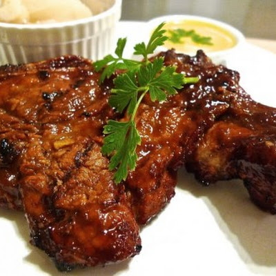 Simple Grilled Bone-in Rib Pork Chops