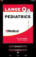 Screenshot of Pediatrics LANGE Q&A