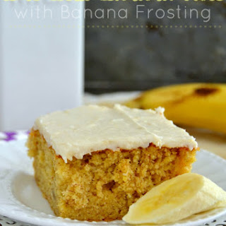 The Best Banana Cake with Banana Frosting