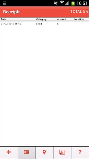 Receipts - screenshot