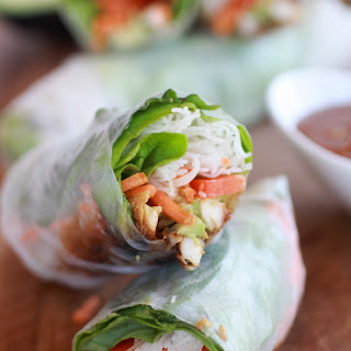 Avocado and Vietnamese Chicken Springs Rolls