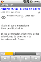 Screenshot of Spanish Podcasts
