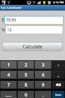 Screenshot of Tax Calculator