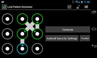 Screenshot of Lock Pattern Generator