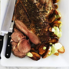 Roasted Lamb With Tomatillo Salsa Recipe