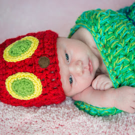 baby girl by Daniel Charlton - Babies & Children Babies ( babies, girl, baby, caterpillar, cute )