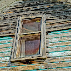 Old But Not Abandoned by Barbara Brock - Buildings & Architecture Other Exteriors ( old house, house needs paint, old window, house siding )