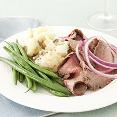 Flank Steak With Mashed Potatoes