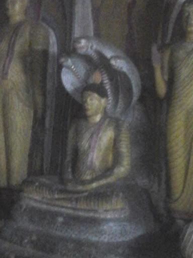 Buddha Statue Under the Naga Raja