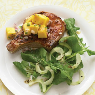Glazed Pork Chops with Mango Salsa