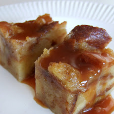 Shaker Bread Pudding with Oozing Caramel Sauce