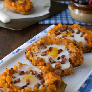 Twice Baked Breakfast Sweet Potatoes