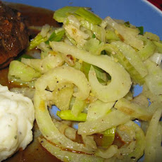 Sauteed Fennel and Leeks