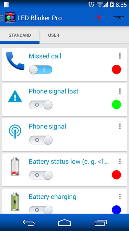 LED Blinker Notifications Lite -Manage your lights Screenshot 3