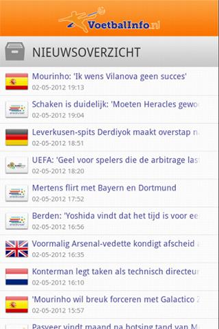 voetbalinfo-nl for android screenshot