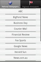 Screenshot of Newspapers AU PRO Australian