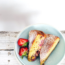 Strawberry, millet, and almond cake with buttermilk