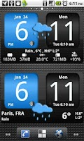 Screenshot of FlipClock AhMan BLUE 4x2