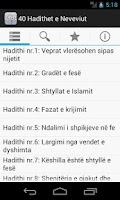 Screenshot of 40 Hadithet e Neveviut