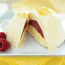 Lemon-Raspberry Ice Cream Bombes
