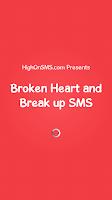 Screenshot of Broken Heart and Break up SMS