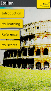 Italian course: Teach Yourself - screenshot
