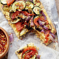 Grilled Vegetable and Hummus Tart