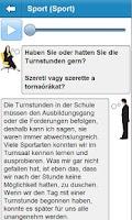 Screenshot of Német szóbeli középfok
