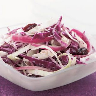 Purple Cabbage Slaw with Raisins