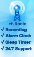 Screenshot of tfsRadio Canada
