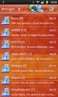 Screenshot of GO SMS Gekko Theme by Gnokkia